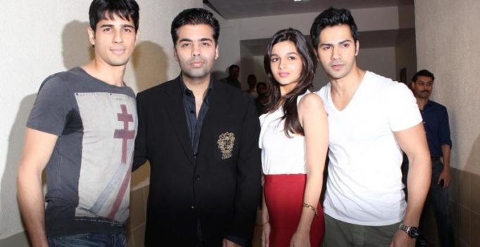 Karan's 'children' Varun, Sid and Alia congratulate him on the birth of his twins