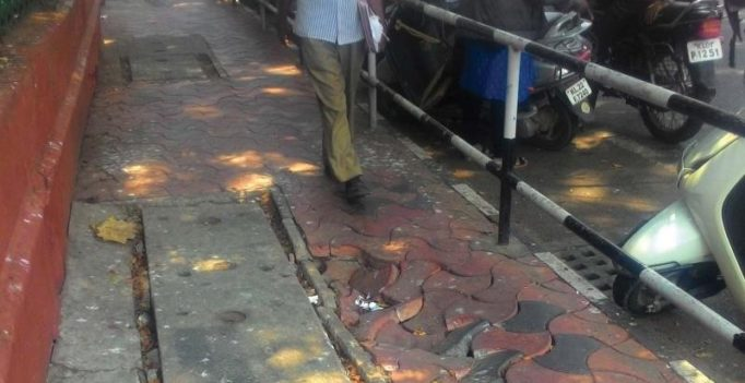 Rats feeding on waste destroy Thiruvananthapuram footpaths