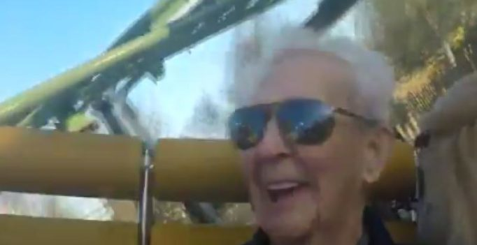 105-year-old man celebrates birthday with record-breaking roller coaster ride