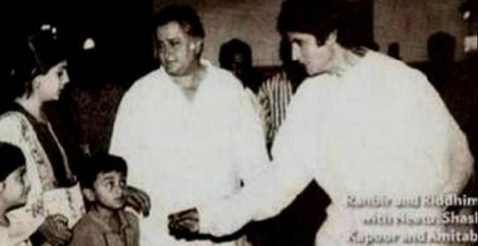Throwback Thursday: This picture of Big B and Ranbir is way too winsome!