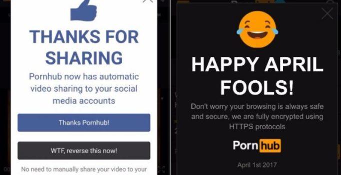 Pornhub's brilliant April Fool's prank had porn viewers panicking