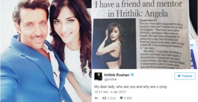 I'm sorry for the misleading headline: Model apologises to Hrithik Roshan