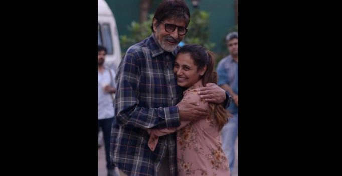Amitabh Bachchan bumps into the 'malkin' of YRF, Rani Mukherjee