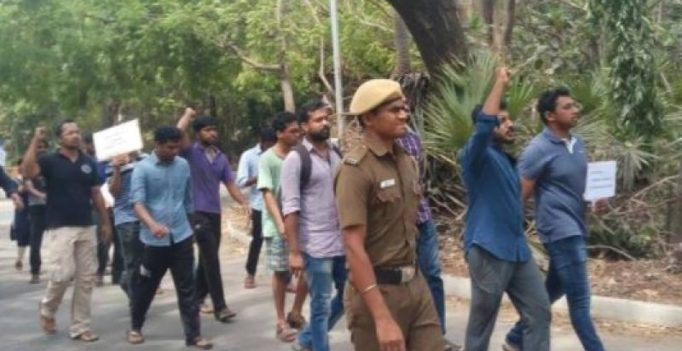 IIT-M students protest against attack on PhD scholar who held 'beef fest'