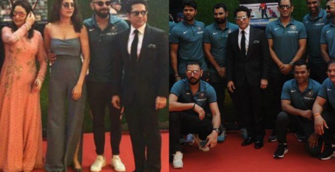Sachin's film premiere: Virat-Anushka come together; Dhoni, other cricketers attend