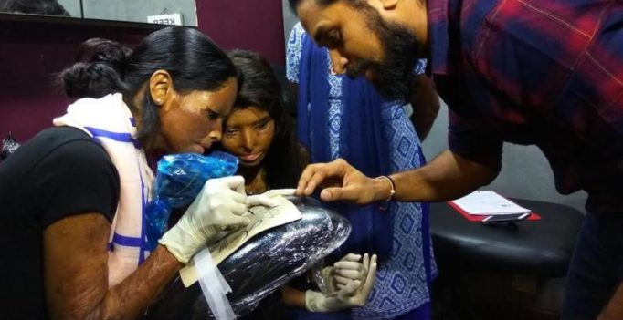 Acid attack survivors learn the art of tattoo making for a better future