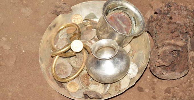 Andhra Pradesh: Ancient treasure found at Srisailam