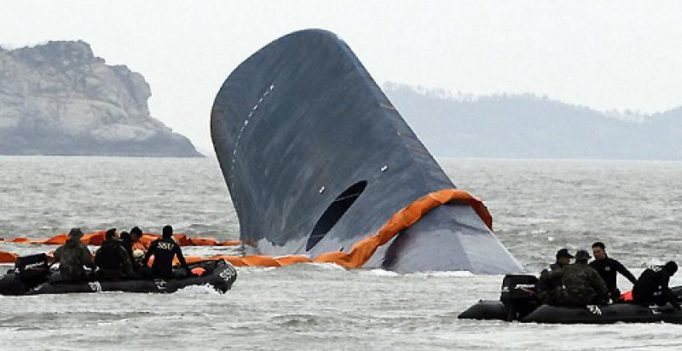 South Korea: Suspected human bones found inside Sewol ferry