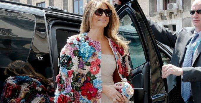 Melania Trump wears USD 51,000 Dolce & Gabbana jacket in Sicily