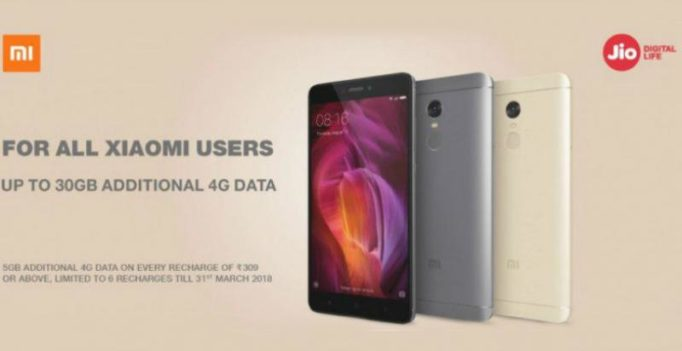 Xiaomi users enjoy 30GB extra data on new Reliance Jio connections
