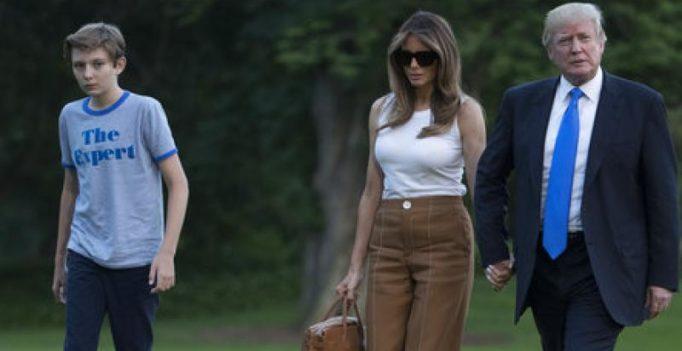 Melania Trump, son Barron move into White House, join US President