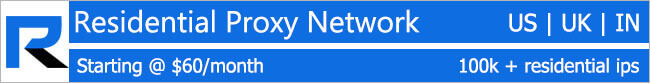 Residential Proxy Network - Hourly & Monthly Packages