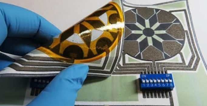 Paper-based battery that is activated by your spit