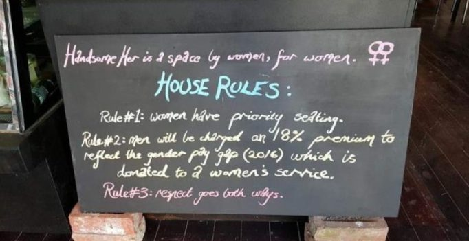 Australia cafe charges 18% 'man tax' from male customers to highlight wage gap