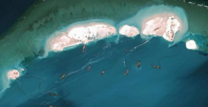 US and allies slam China for building artificial island in South China Sea