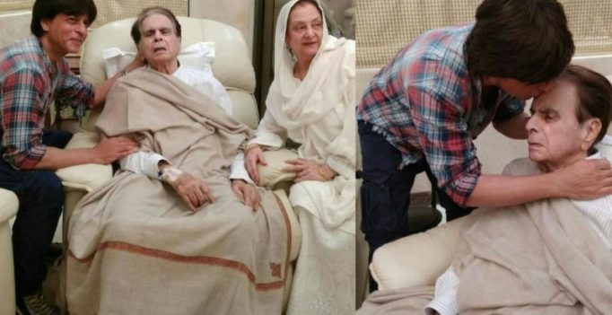 'Son' Shah Rukh Khan visits Dilip Kumar post his discharge from hospital