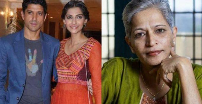 'Shameful': Sonam, Farhan, other Bollywood stars condemn Gauri Lankesh murder