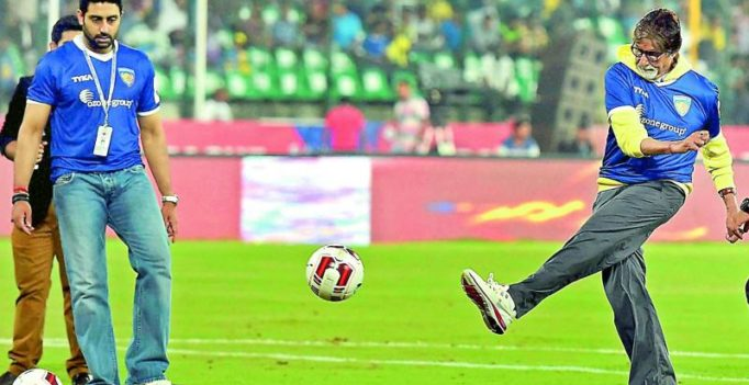 Abhishek to help Amitabh Bachchan learn football