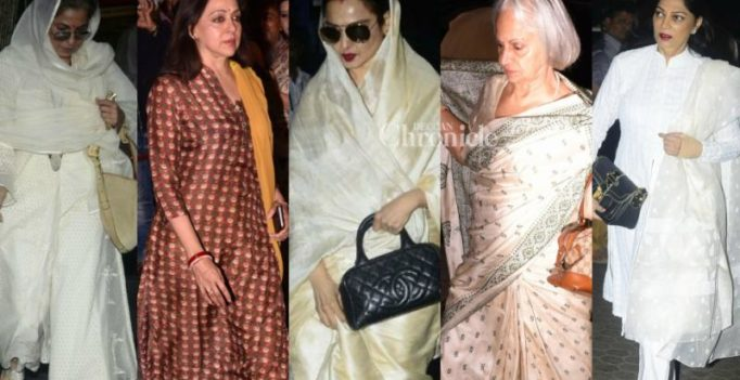 Shashi Kapoor's leading ladies pay their respects to him at his prayer meet