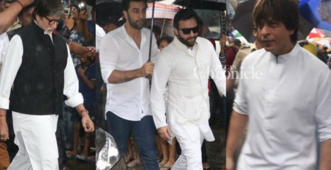 Shashi Kapoor cremated with state honours, B'wood stars attend funeral