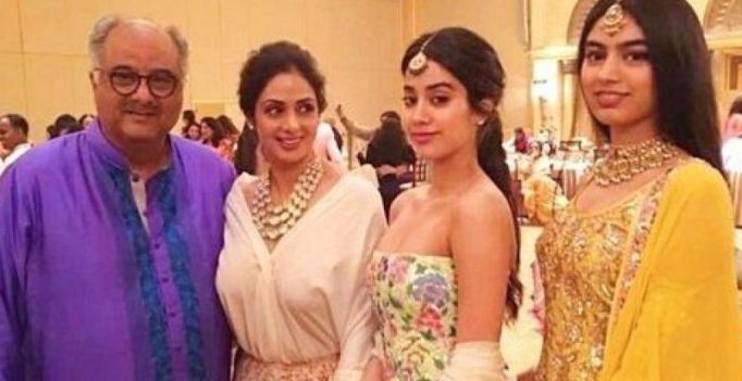 Boney Kapoor and daughters Janhvi, Khushi to collect Sridevi's national award