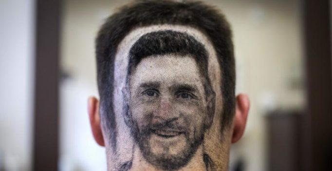 Watch: Barber of Serbia snips Lionel Messi 'headshot' for FIFA World Cup 2018 fans