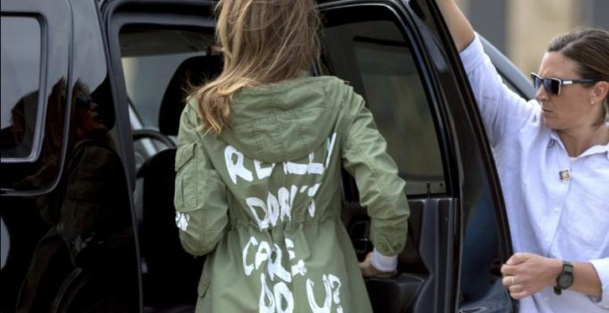 Melania's jacket raises eyebrows on border visit, Trump comes to her rescue