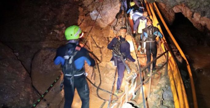 'Biggest crisis spot' looms near end of Thai cave as rescue operation begins