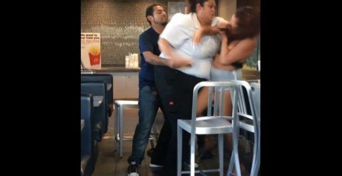 In video: McDonald's worker body-slams woman customer who threw milkshake at her