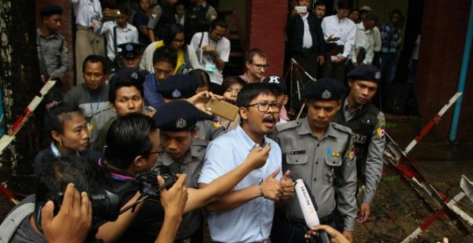 Reuters journalists charged under Official Secrets Act by Myanmar court
