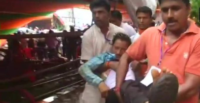 20 injured after tent collapses at PM Modi's rally in Bengal's Midnapore