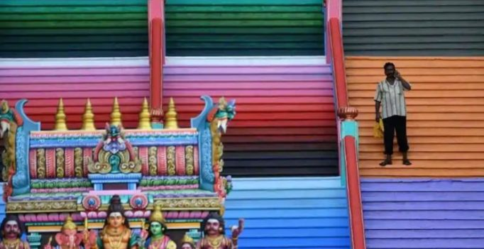 Malaysian Hindu temple gets paint job; originality disturbed, says govt