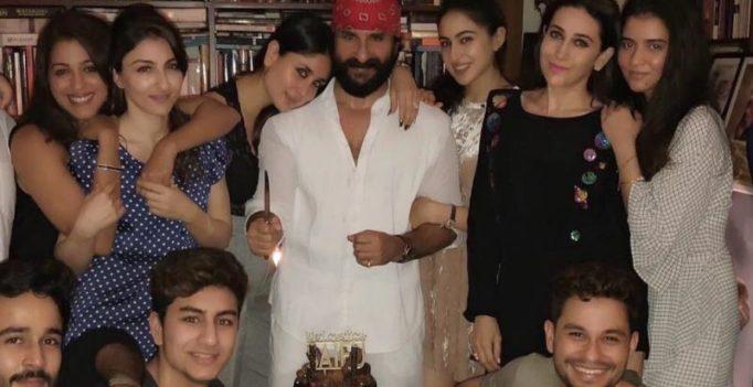 Inside pics, video: Saif Ali Khan marks 47th birthday with family, Kareena kisses him