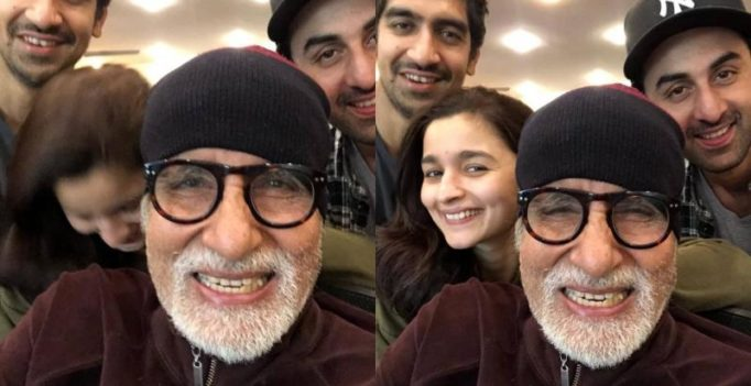 Big B and Ranbir snapped in empty theatre hall, but Alia might have been there!