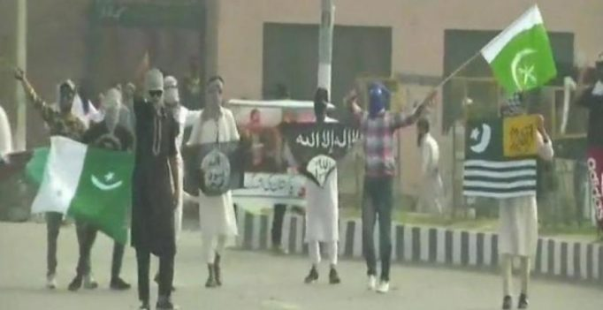 Eid celebrations marred by violence, stone pelters wave Pak, ISIS flags in Srinagar