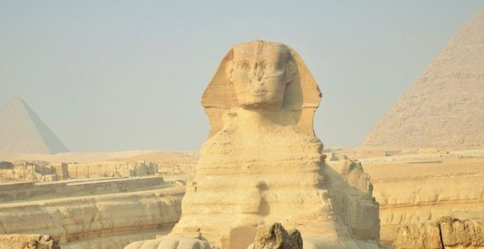 Egypt: Archaeologists discover sandstone sphinx in temple at Aswan