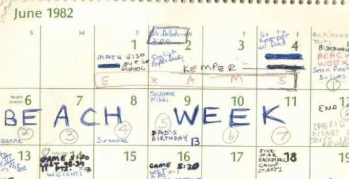 A look at Brett Kavanugh's 1982 calendar: sports, movies, parties