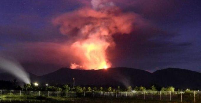 Indonesia's Mount Soputan erupts on tsunami-hit island