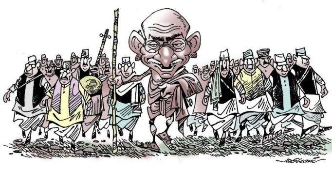 Keeping Gandhi alive