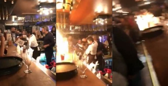 Video: Four injured at famous 'Salt Bae' restaurant as flame stunt goes wrong