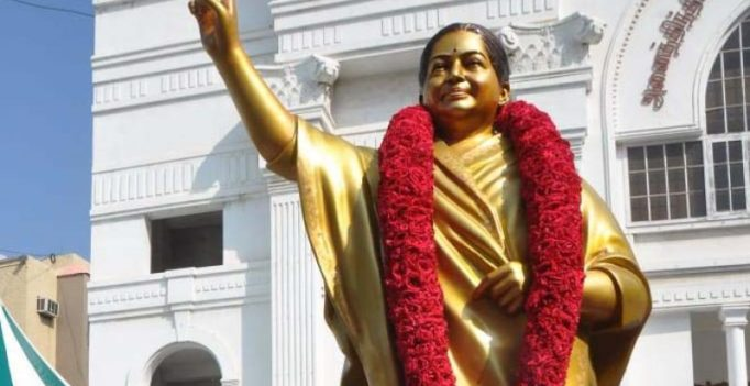 New statue of Jaya unveiled at AIADMK headquarters
