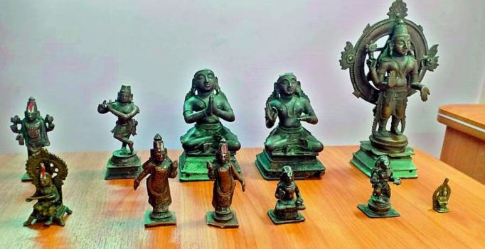Hyderabad: 3 steal 9 Kakatiya era idols worth Rs 3 crore, held