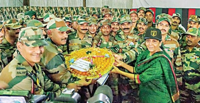Nirmala Sitharaman celebrates Diwali with Army in Arunachal's remote posts