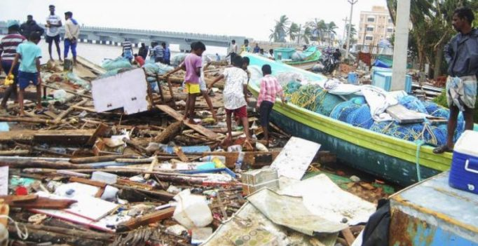 Death toll in Cyclone Gaja rises to 45, relief ops on war footing underway