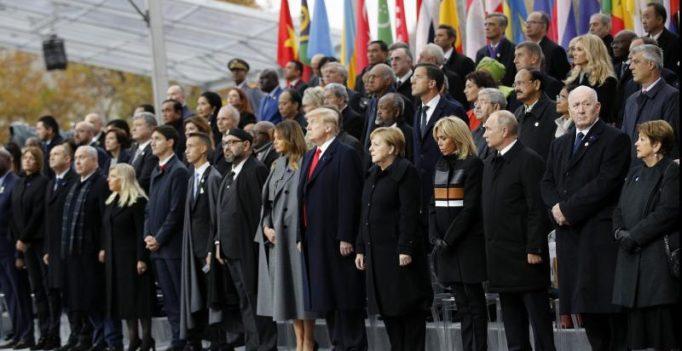 'Patriotism is opposite of nationalism,' says Macron, Trump by his side