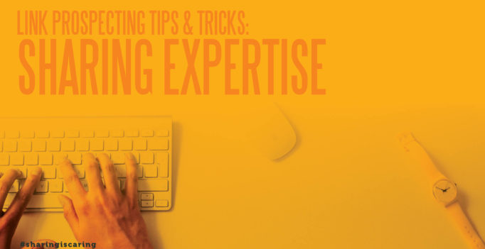 Link prospecting tips and tricks
