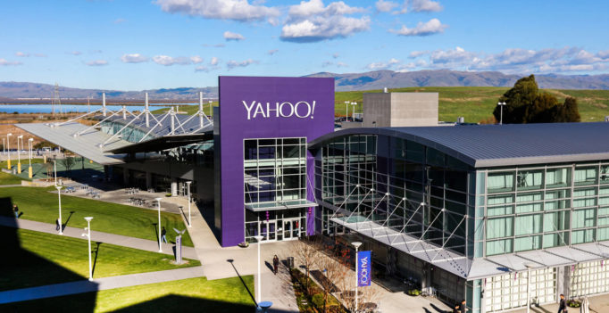 Yahoo is using display ads to drive search traffic for competitive terms